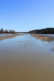 Spring Flooding of River in South of Finland royalty free stock images