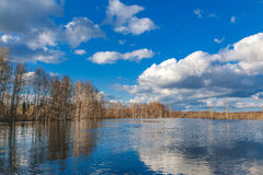 Spring flooding in Siberia Stock Photo
