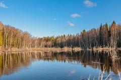 Spring flooding in Siberia Stock Photos