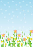 Spring flora. Spring flowers in the grass.Vector illustration.EPS file available Royalty Free Stock Photo