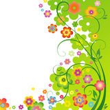 Spring floral background. With place for  text Stock Photo