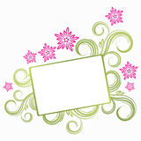 Spring floral banner. Illustration for your design Royalty Free Stock Photos