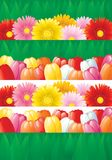 Spring floral banners Stock Photos