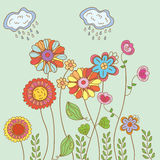 Spring floral card Stock Photography