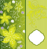 Spring floral card Stock Photo