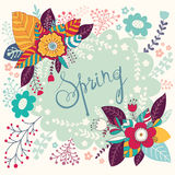 Spring floral card Stock Photos