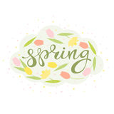 Spring floral card vector royalty free illustration