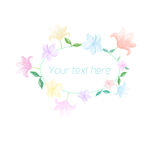 Spring floral circle ornament with text Stock Photos