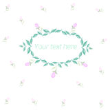 Spring floral circle ornament with text. Spring floral ornament with text watercolor placeholder vector illustration