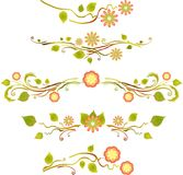 Spring floral decorative ornament Stock Images