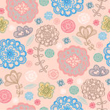 Spring floral design pattern. Spring colored pattern with fantasy flower Stock Photography