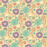 Spring floral design pattern. Spring colored pattern with fantasy flower Stock Image