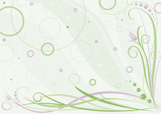 Spring floral design. Vector. Spring floral design in green and pink colours. Vector Stock Photo