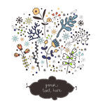 Spring floral elements Royalty Free Stock Image