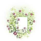 Spring floral frame. With butterflies Royalty Free Stock Photos
