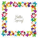 Spring floral frame Stock Image