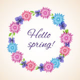 Spring floral frame Royalty Free Stock Photography
