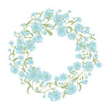 Spring floral frame for your design Stock Photography