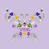 Spring - Floral Graphic Design Royalty Free Stock Photos