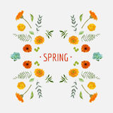 Spring - Floral Graphic Design Stock Photos