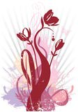 Spring floral grunge vector illustration Royalty Free Stock Photos
