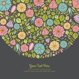 Spring Floral Invitation. Easy to edit royalty free illustration