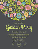 Spring Floral Invitation Two. Spring Floral Invitation. Easy to edit Stock Photos