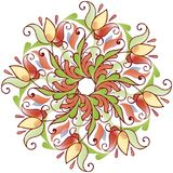 Spring floral mandala. Cute vector floral mandala. vector illustration