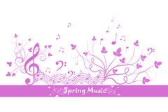 Spring Floral and Music Stock Image
