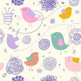 Spring floral pattern. Cute spring floral pattern for nice backgrounds Stock Photo