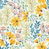 Spring floral pattern. Seamless colorful floral background pattern Decorative backdrop for fabric, textile, wrapping paper, card, invitation, wallpaper, web Royalty Free Stock Image