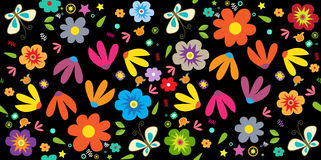 Spring Floral Pattern Royalty Free Stock Photos