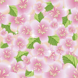 Spring floral sakura seamless pattern, vector Stock Photo