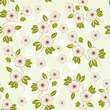 Spring floral seamless background in vector. Floral seamless backgrounds for design of fabrics and wallpapers in vector Royalty Free Stock Photography