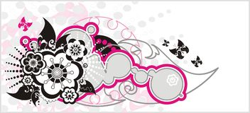 Spring floral vector background Stock Photos