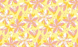 Spring floral vector seamless pattern. Spring blossom motif with sakura flowers for background, surface design Royalty Free Stock Photography