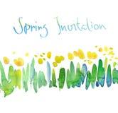 Spring floral watercolor Stock Photos