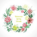 Spring floral wreath Stock Photo