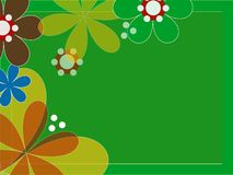 Spring flower background. Background of flowers illustrated Royalty Free Stock Images