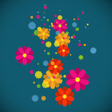 Spring flower background. Vector illustration Stock Image