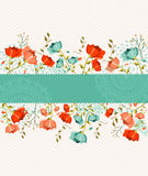 Spring flower banner Stock Photo