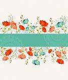 Spring flower banner stock photo