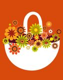 Spring flower basket Stock Photography