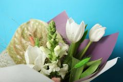 Spring flower bouquet concept, fashion style.  stock photography