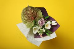 Spring flower bouquet concept, fashion style.  royalty free stock photography