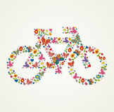 Go green spring icon bike Stock Images