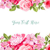 Spring flower card. Royalty Free Stock Images