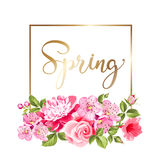 Spring flower card. Stock Photo