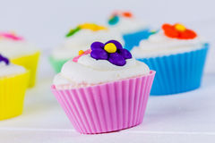 Spring Flower Cupcakes Royalty Free Stock Image
