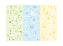 Spring flower design. In pastel colors green, blue and yellow vector illustration